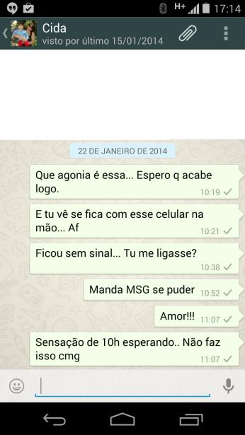 Mensagens não lidas do Whatsapp.