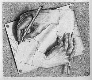 Paradoxo no desenho de Escher